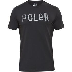 POLER Furry Font Bluzka z krótkim rękawem Mężczyźni czarny